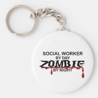 Social Worker Zombie Keychain