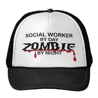 Social Worker Zombie Trucker Hat