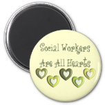 Social Workers Are All Hearts Gifts Fridge Magnet