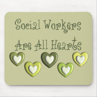 Social Workers Are All Hearts Gifts Mouse Pad