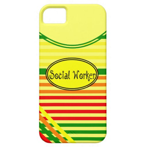 Social Workers Citrus Stripes Design iPhone 5 Cases