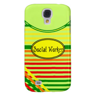 Social Workers Citrus Stripes Design Samsung Galaxy S4 Cover