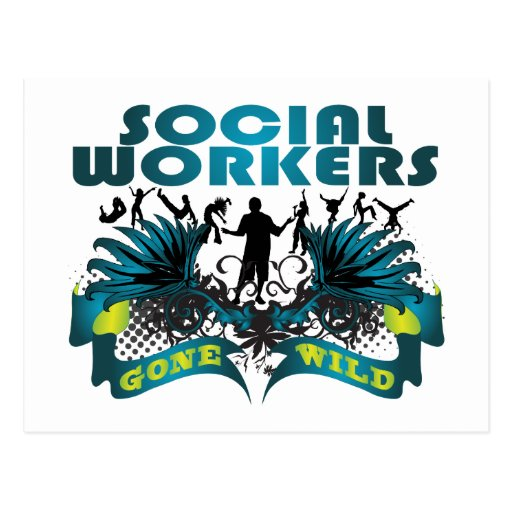 Social Workers Gone Wild Postcard