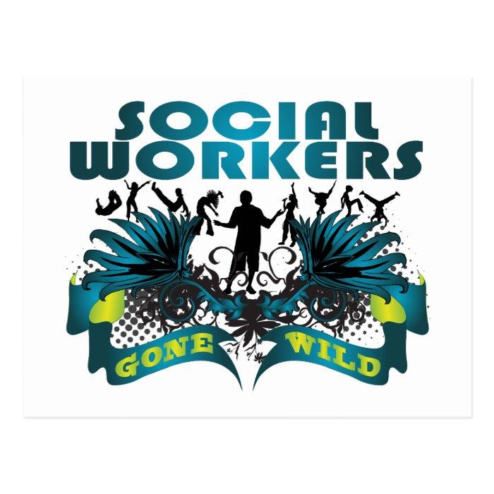 Social Workers Gone Wild Postcard