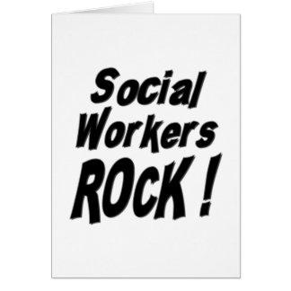 Social Workers Rock! Greeting Card