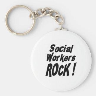 Social Workers Rock! Keychain