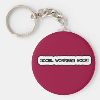 Social Workers Rock! Key Chain