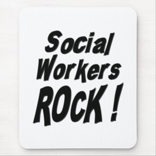 Social Workers Rock! Mousepad