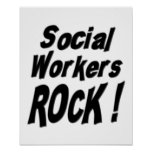 Social Workers Rock! Poster Print