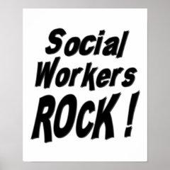 Social Workers Rock! Poster Print