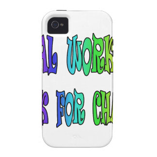 Social Workers Work For Change Case-Mate iPhone 4 Covers