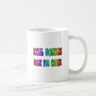 Social Workers Work For Change Classic White Coffee Mug