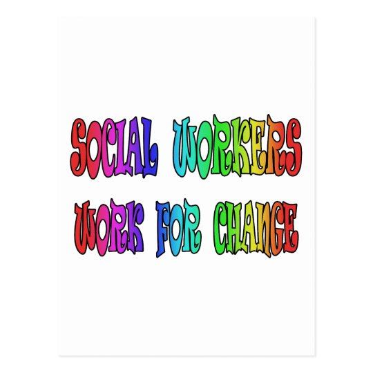 Social Workers Work For Change Postcard