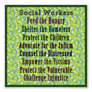 Social Workers Work! Poster