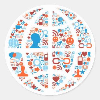 Social World Shape Classic Round Sticker