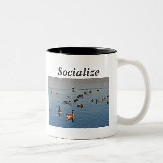 Socialice Taza De Dos Tonos