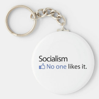 Socialism Basic Round Button Keychain