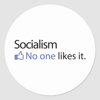Socialism Classic Round Sticker