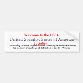 Socialism definition car bumper sticker