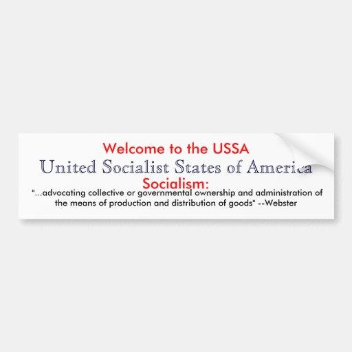 Socialism Definition Bumper Sticker Zazzle