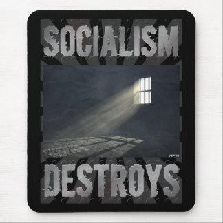 Socialism Destroys Mouse Pad
