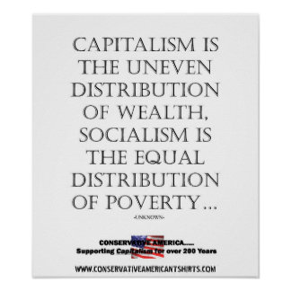 SOCIALISM DOES NOT WORK POSTER