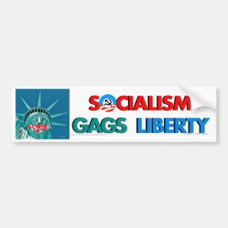 Socialism gags Liberty bumper sticker