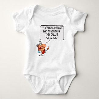 Socialism is a Social Disease Baby Bodysuit