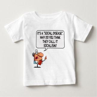 Socialism is a Social Disease Baby T-Shirt