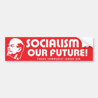 """Socialism is our future!"" YCLUSA Bumper Sticker"