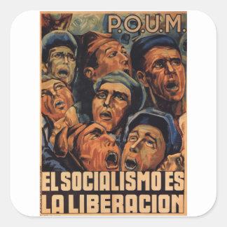 Socialism is the liberation_Propaganda Poster Square Sticker
