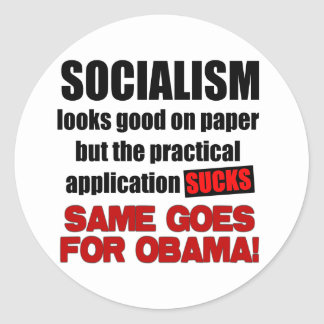 Socialism - Looks Good On Paper Classic Round Sticker