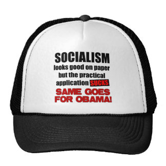 Socialism - Looks Good On Paper Hat
