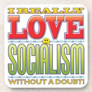 Socialism Love Face Drink Coaster