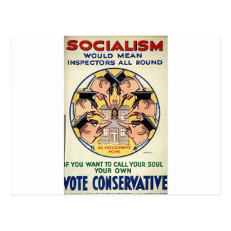 Socialism means Inspectors all round Post Cards