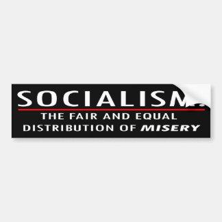 Socialism = Misery Car Bumper Sticker