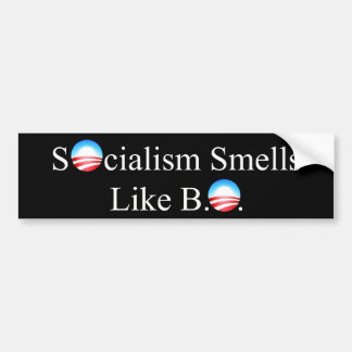 SOCIALISM SMELLS LIKE BO CAR BUMPER STICKER