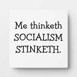 SOCIALISM STINKETH PLAQUE