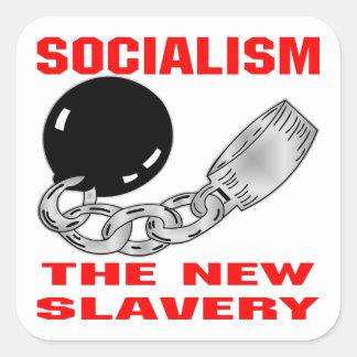 Socialism The New Slavery Square Sticker