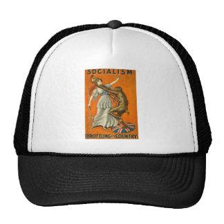 Socialism_Throttling_the_Country (PUBLIC DOMAIN) Trucker Hat