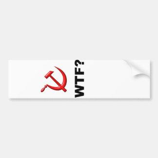 Socialism? WTF? Car Bumper Sticker