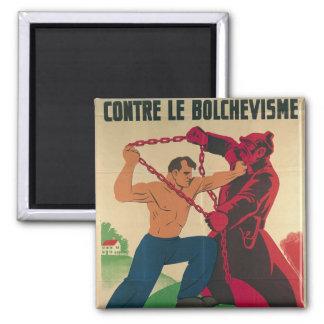 Socialismo contra el Bolshevism para un libre Imán Cuadrado