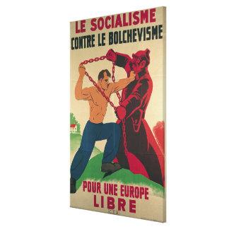Socialismo contra el Bolshevism para un libre Lona Estirada Galerías