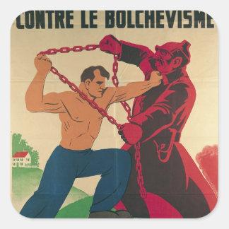 Socialismo contra el Bolshevism para un libre Pegatina Cuadrada