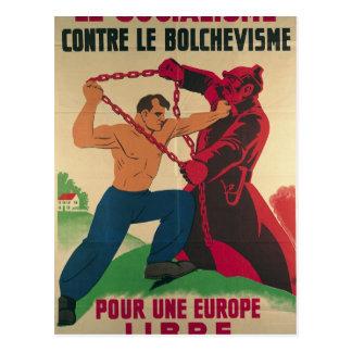 Socialismo contra el Bolshevism para un libre Tarjeta Postal