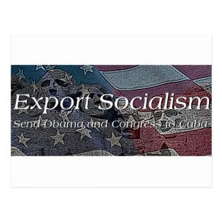 Socialismo de la exportación tarjetas postales