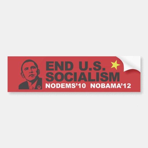 Socialismo de los E.E.U.U. del extremo Pegatina Para Auto