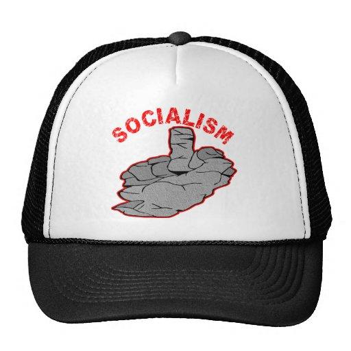Socialismo de piedra del tornillo del dedo medio gorro de camionero