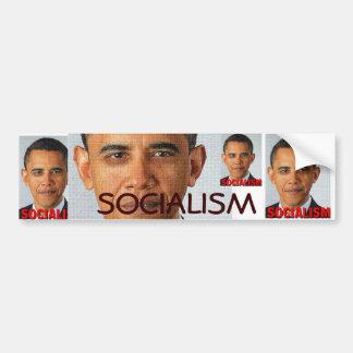 Socialismo de Prez Obama Pegatina De Parachoque