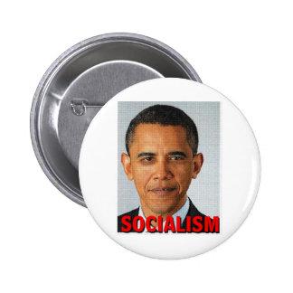 Socialismo de Prez Obama Pin Redondo 5 Cm